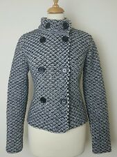 Limited Collection M&S Tweed Wool Blend Cardigan Size Small UK 8/10 Chunky Knit