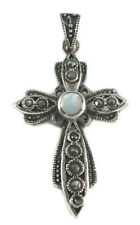 USA Seller Marcasite Cross Pendant Sterling Silver 925 Best Deal Jewelry MOP
