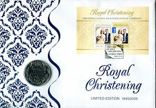 2014 Australia Royal Christening Prestige £5 pound coin PNC/FDC Ltd Ed 2000