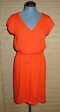 The North Face S Orange Poppy Dress impulse dress slub knit drawstring waist