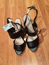 Size 11 - womens black open toe heels - new with tag