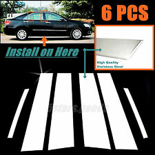 Stainless Steel Chrome Door Pillar Posts Covers Trims For Toyota Camry 2007-2011