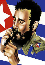 Art Poster - Fidel Castro - Retro - Popart  A3 Print