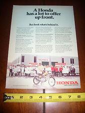 1972 HONDA MOTORCYCLE PARTS AND SERVICE - ORIGINAL AD