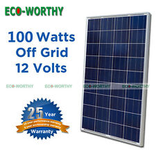 100Watt PV Solar Panel for Off Grid 12V Battery Charger Home Cabin Power Supply