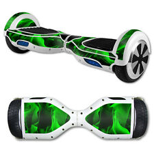 Skin Decal Wrap for Hoverboard Balance Board Scooter Hover Green Flames