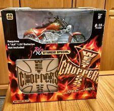 2004 1:18 Scale West Coast Choppers Jesse James R/C Sturgis Special, Green Flame