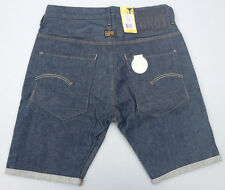 NEW - RRP $230 - Mens Selvedge G-Star Raw 'NEW RADAR TAPERED RED LISTING' Shorts