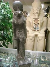 Vintage In & Outdoor Egyptian God RA Statue Hand Carved 1971  Made in Egypt