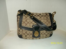 Coach Legacy Khaki/Black Flap Top Shoulder Bag # GO93-F12857 & GiGi Wallet