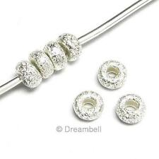 20 STERLING Silver Round Bead Stardust Rondelle 3mm