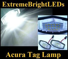 TWO WHITE TSX MDX RL TL ILX Accord Odyssey Civic SMD LED License Plate Lamps