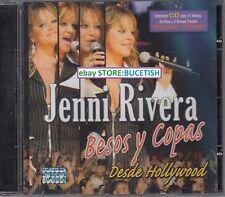 Jenni Rivera Besos y copas Desde hollywood CD New Nuevo sealed