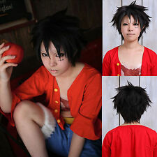 Monkey.D.Luffy ONE PIECE Layered Short Black Party Costume Cosplay Halloween Wig
