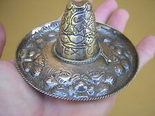 VERY ORNATE HAND MADE ANTIQUE VINTAGE STERLING SILVER MEXICAN SOMBRERO HAT #2