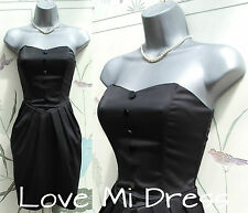 WAREHOUSE - Strapless Corset/Tuxedo Dress Sz 10 EU38