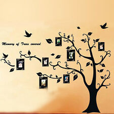 Removable Large Photo Frame Family Tree Wall Decal Sticker Kid Room Home Decor