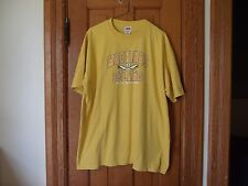 Anvil Adult XL T-Shirt Mackinac Island Michigan Boat Oars Anchor Maize & Blue