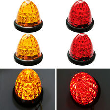 4X 16LED Side Marker Turn Signals Round Bullet For Truck SUV Van Car Amber Red