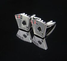Men's Novelty Jewelry Playing Card Cufflinks Great Design Poker Cuff links