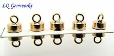 5 (FIVE) 14k GOLD FILLED 4.5mm Magnetic Button Clasps