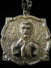 Jesus Malverde PORTRAIT Charm Pendant & a FREE  23+ inch link chain Gold Plated