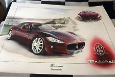 MASERATI GRANTURISMO 4.7L V8 2009 NEW PAINTING PRINT ARTWORK CHRISTOPHER DUGAN