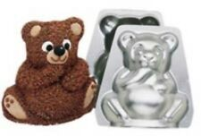 Wilton Mini Stand Up Teddy Bear Cake Candy Pan Aluminum Birthday 3D Baby Shower