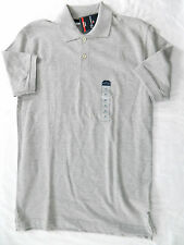 NWT Men's XS Lt Gray Heather Heritage Pique Polo - St. John's Bay