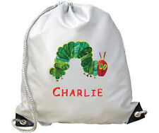 PERSONALISED HUNGRY CATERPILLAR SWIMMING/PE/DANCE BAG-ADD ANY NAME-IDEAL GIFT!