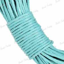 1mm Light Blue Thread Waxed Cotton Cord 20m Wire Findings Fit Bracelet Necklace