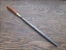 Small Vintage Chef/Butcher's Knife Sharpening Steel w/Stag Handle - VERY HANDY!