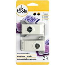 "EK Success Mini Corner Rounder Punches 2 sizes 1/2"" & 1"" Nesting Paper Punches"