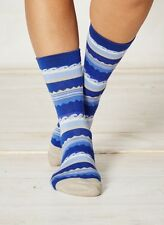 Braintree Blue Wave Surfer Bamboo Socks Sustainable Anti-Bacterial Size 4-7