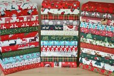 NATALE STOFFA PATCHWORK QUILTING Crafts resti Bundle 100% COTONE briciole 6 ""