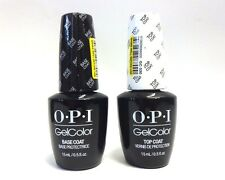 OPI Nail GELCOLOR Gel Color BASE COAT + TOP COAT .5oz/15mL  ~ 2 bottles~