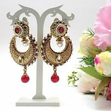 """Indian Bridal/ Party Wear Earrings Length:(2.8"""") Inches"""