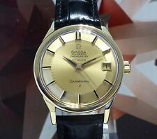Vintage 1962 Men's 18K Omega Turler Constellation 18K Pie Pan Dial Automatic