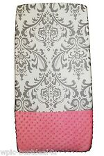 Sisi Baby Design Diaper Changing Table Pad Cover - Grey Damask