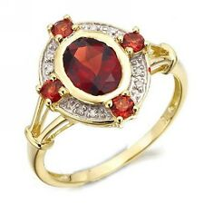 Women's Engagement Fashion Size 10 Halo Beautiful Garnet 10KT Gold Filled Ring