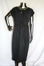 Womans STOP STARING Gray & Black Polka Dot Belted Dress Size XL NWOT