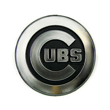 Chicago Cubs Silver Auto Emblem [NEW] Car Decal Sticker Static Cling MLB CDG