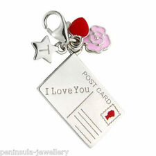 TINGLE Sterling Silver clip on CHARM I LOVE YOU CARD with Gift Box SCH222