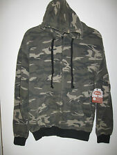 Green Camo XL NWT Wings Beach Outfitters Hooded Hoodie Zipper Front Jacket