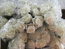 ARTIFICIAL JOB LOT X72 IVORY FOAM ROSES BRAND NEW WEDDING BOUQUETS BUTTON HOLES
