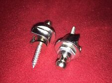 2 New Chrome  Strap Locks for Electric And Bass Guitar