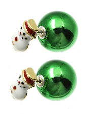SNOWMAN DOUBLE SIDED EARRINGS