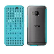 Genuine HTC ONE M9 Dot View FLIP CASE original smartphone book cover Turquoise 2