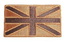 GB ARMY JACKET PATCH Iron on / sew on British military subdued bronze flag badge