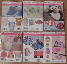 Simplicity 4993, 2493, 3955, 2935, 1442, 8033 Rag Quilt Animal Patterns+ NEW